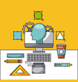 creative process icon flat vector image