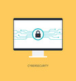 cybersecurity system internet protection concept vector image vector image