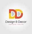 dd creative logo design - double d vector image vector image