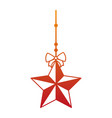decorative star with bow hanging vector image vector image