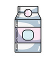delicious milk box product to nutrient vector image vector image
