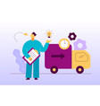 delivery service design concept web banner vector image vector image