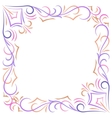 Doodle color abstract corner frame vector image vector image