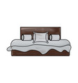 double bed icon image vector image vector image