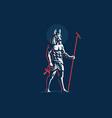 egyptian god anubis emblem vector image vector image