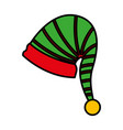elf hat on white background vector image