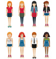 Faceless teenagers vector image