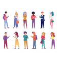 fashion people speaking vector image vector image