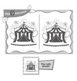 find 9 differences game black circus vector image vector image