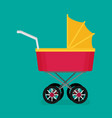flat baby carriage vector image