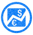 forex chart rounded icon rubber stamp vector image vector image
