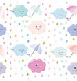 funny hand drawn seamless pattern background vector image