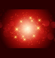 halftone design with glowing dots vector image vector image