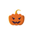 halloween pumpkin icon isolated on white vector image vector image