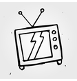hand drawn TV vector image vector image