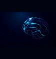 human brain abstract neon lines vector image vector image