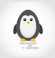 icon a cute penguin in flat design vector image