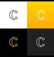 logo c with two dots linear logo of the letter c vector image