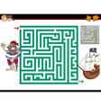 maze activity game vector image vector image