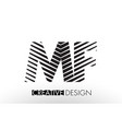 mf m f lines letter design with creative elegant vector image vector image