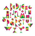 multicolor geometric alphabeth vector image vector image