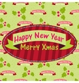 New Year and Christmas greeting card with the vector image