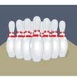 pins Realistic Bowling vector image vector image