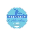 Rafting Coldwater Blue Emblem Design vector image vector image