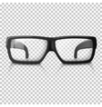 realistic glasses Transparent vector image vector image