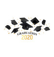realistic graduate poster vector image vector image