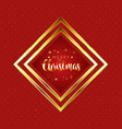 red and gold christmas background vector image vector image