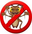 Scary cockroach cartoon vector image vector image