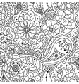 seamless pattern of floral doodle elements vector image vector image