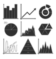 set business charts statistic diagrams vector image vector image