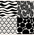 set of abstract geometric patterns stylish vector image