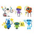 set of different robots vector image vector image