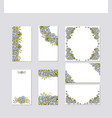 set of flower wedding ornament concept art vector image vector image