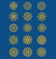 set of mandala pattern flourish floral theme vector image