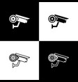 set security camera and gear icons isolated on vector image
