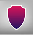 shield sign purple gradient vector image vector image