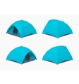 Sky-blue camping tents vector image