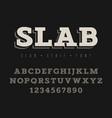 slab serif font 001 vector image