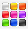 square button set vector image vector image