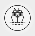 steamboat cruise universal icon thin vector image vector image
