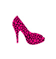 stiletto with hearts vector image vector image