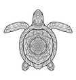 stylized underwater turtle vector image