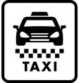 taxi car on white cab icon vector image