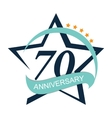 Template Logo 70 Anniversary vector image vector image