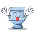 tongue out toilet character cartoon style vector image vector image
