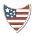 united states of america shield vector image vector image